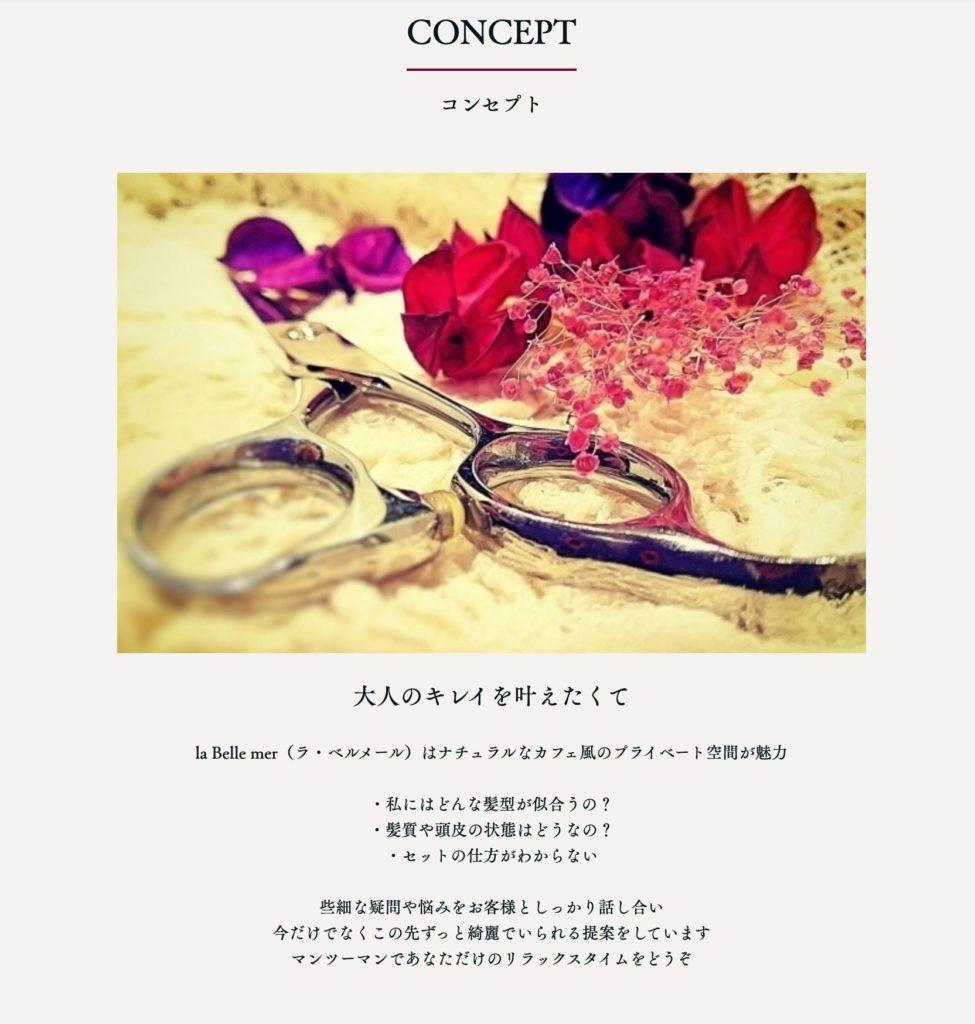 豊橋市 美容室 開業用ホームページ